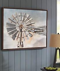 Ashley Furniture Elvi Wall Art, Gray/Blue