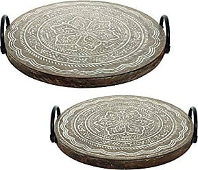 Foreside Home And Garden Adams Trays, Set of 2