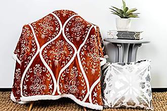Duck River Textile kensie Kerchner Ulta Plush Soft & Warm Sherpa Throw Blanket, 50 x 60, Rust Orange