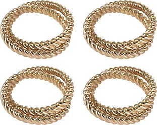 L'OBJET Deco Twist Napkin Rings - Set of 4 - Gold