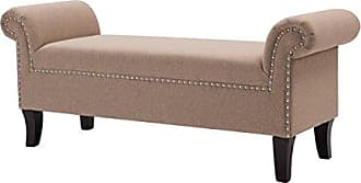 Jennifer Taylor Home 2413-889 Kathy Accent Bench Incense Tan