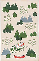 Now Designs Cotton Kitchen Towel, The Great Outdoors Print