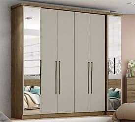 Henn Guarda roupas 06 portas com espelho d217 serenata henn - rústico/cristal