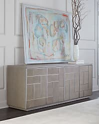 Bernhardt Aletha Faux-Shagreen Entertainment Console