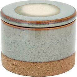 Home&Co Potiche com Tampa em Cerâmica Cayo 9,5cm Areia - Home&co