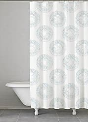 Kassatex Grey Starburst Shower Curtain, Gray