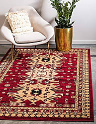 Unique Loom Taftan Collection Geometric Tribal Red Area Rug (4 x 6)