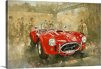 Great Big Canvas Cobra At Brooklands Canvas Wall Art Print - 1049855_24_24X16_NONE