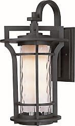 Maxim Lighting Oakville LED 1-Light Outdoor Wall Lantern in Black Oxide w/Water Glass Glass