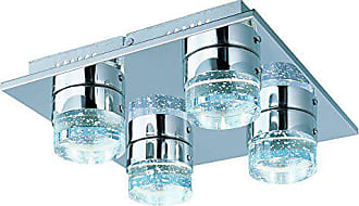 Maxim Lighting ET2 E22772-91PC Fizz IV 4-Light LED Flush Mount, Polished Chrome Finish, Bubble Glass, PCB LED Bulb, 20W Max., Dry Safety Rated, 2900K Color Temp., Standard Dimmable, Glass Shade Material, 1150 Rated Lumens
