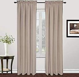 United Curtain MET108NT Metro Window Curtain Panel, 54 X 108, Natural,54 X 108