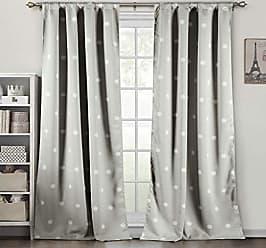 Duck River Textile Dottie Geometric Insulated Blackout Room Darkening Curtain Set of 2 Panels, 78 X 84 Inch, Sand, 2 Piece