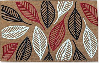 First Impression Vilfred Leaf Flocked Outdoor Door Mat - PTF2009