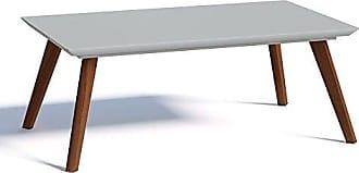 Imcal Mesa de Centro Classic Retangular Branca Acetinado