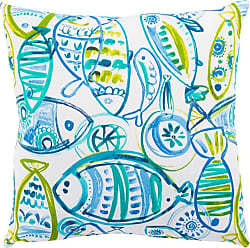 Jaipur Living Rugs Veranda Aquatic Fish Indoor Throw Pillow - PLP100077