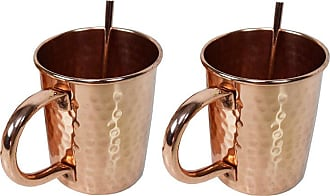 Oakland Living Hammered Straight 16 oz. Copper Moscow Mule Cup - Set of 2 - CMUG-HAM-STRAIGHT-CO