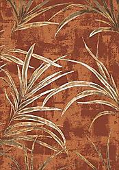 Milliken Carpet 4000030919 Pastiche Collection Rain Forest Rectangle Area Rug, 78 x 109, Fall orange