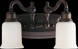 Feiss VS8002-ORB Canterbury Vanity Strip in Oil Rubbed Bronze finish with Opal white etched glass shade