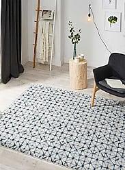 Simons Maison Indigo geometric rug