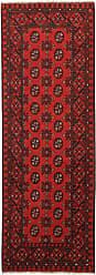 Nain Trading Oriental Rug Afghan Akhche 711x28 Runner Dark Brown/Rust (Wool, Afghanistan, Hand-Knotted)