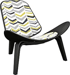 NyeKoncept Nyekoncept Shell Chevron Accent Chair Purple / Beige - 14000647