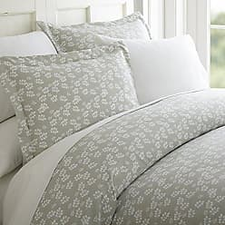 iEnjoy Home 3 Piece Wheatfield Patterned Home Collection Premium Ultra Soft Duvet Cover Set, Queen, Gray