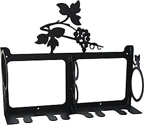 Village Wrought Iron 15 Inch Grapevine Wine Rack Wall Mount
