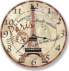 The Stupell Home Décor Collection Stupell Home Décor Paris Dining Scene Decorative Vanity Wall Clock, 12 x 0.4 x 12, Proudly Made in USA