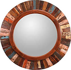 Kenroy Home Randy Wall Mirror, 36 Inch Diameter Frame, 23 inch Dia, Wood