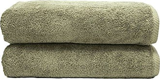 Linum Home Textiles Soft Twist Premium Authentic Soft 100% Turkish Cotton Luxury Hotel Collection Bath Towel, Set of 2, Light Olive