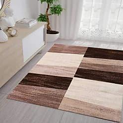 Ein Wohnzimmer Schlafzimmer Teppich Gemotrischen Muster Abstrakt Grau und Beige