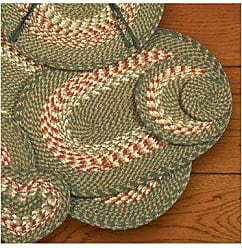 Earth Rugs Braided Placemat Color: Green/Burgundy