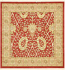 Unique Loom 3123147 Edinburgh Collection Area Rug, 4 x 4 Square, Red