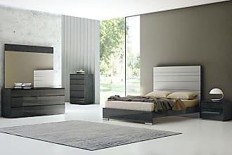 Whiteline Malibu Low Profile Bed, Size: Queen,King - BQ1367P-GRY