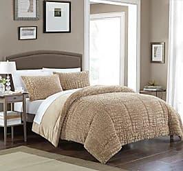 Chic Home Alligator 3 Piece Comforter Set Faux Fur Micro Mink Skin Bedding, Queen, Taupe