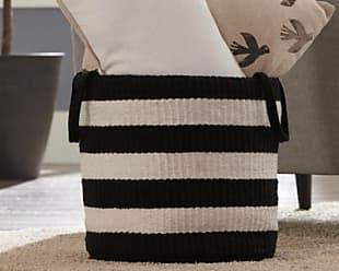 Ashley Furniture Edgerton Basket, Black/White