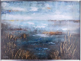 Art Maison Canada Golden Marsh Framed Acrylic Canvas Wall Art - HAYN3047