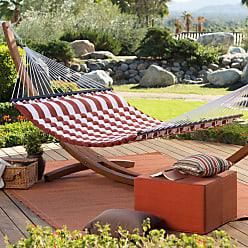 Belham Living Outdoor Belham Living 13 ft. Thick Stripe Pillow Top Hammock with Russian Pine Stand Aqua Blue, Womens - ALZ1133-1