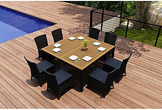 Harmonia Living Outdoor Harmonia Living Arbor Teak 9 Piece Square Patio Dining Set - HL-AR-CB-9SDS-IN