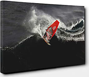 Stunning Beach Wave Canvas Wall Art Picture Print 76x50cm