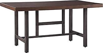Ashley Furniture Signature Design by Ashley D469-25 Kavara Dining Tables, 36.00 W x 60.00 D x 30.00 H, Medium Brown