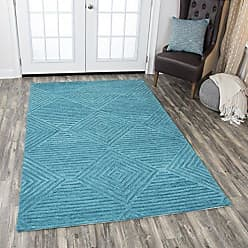Rizzy Home Idyllic Collection Wool Teal/Gray/Rust/Blue Solid Area Rug 26 x 8