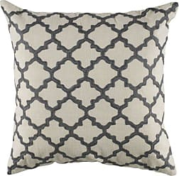 Rizzy Home T04064 Decorative Poly Filled Throw Pillow 18 x 18 Gray/Beige