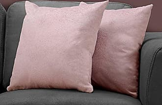 Monarch Specialties I I 9323 Throw Pillow, 18 x 18, Pink