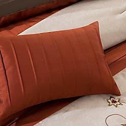 Madison Park MP10-1366 Serene 7 Piece Comforter Set, Orange