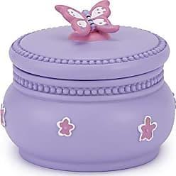 Kassatex Butterfly Bath Accessories Cotton Jar, One Size, Pink/Lavender/White
