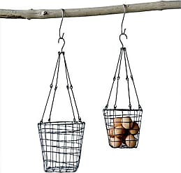 Creative Co-op Creative Co-op DA8768-1 Wire Hanging Baskets (Set of 2 Sizes)
