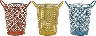 Benzara The Fun Metal Basket, 3 Assorted