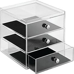 InterDesign InterDesign Clarity Vanity Jewelry Organizer, 3-Drawer, Clear/Black