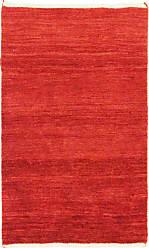 Nain Trading Persian Gabbeh Rug 48x211 Orange (Hand-Knotted, Iran/Persia, Wool)